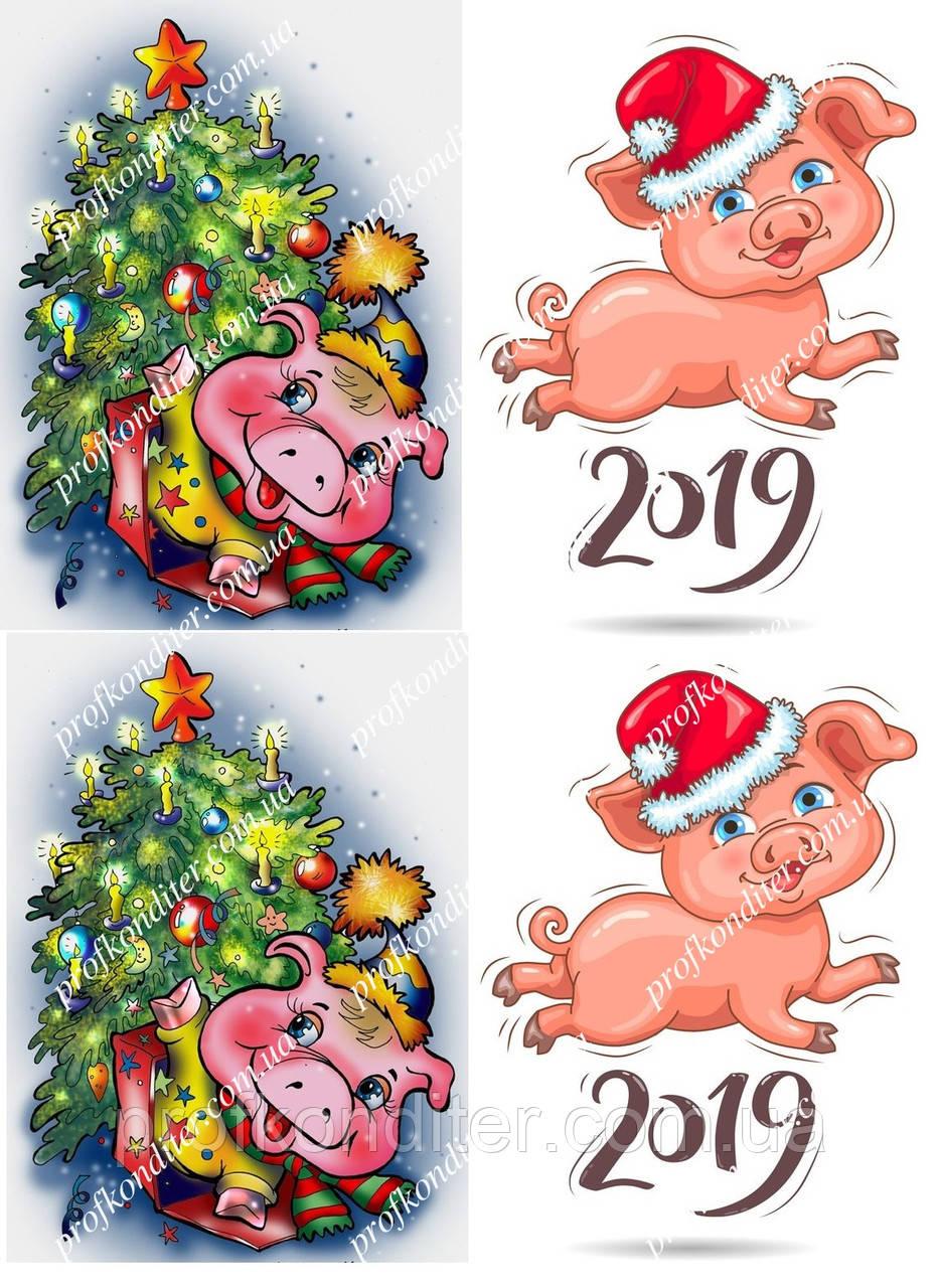 Вафельная картинка Новый год - 59