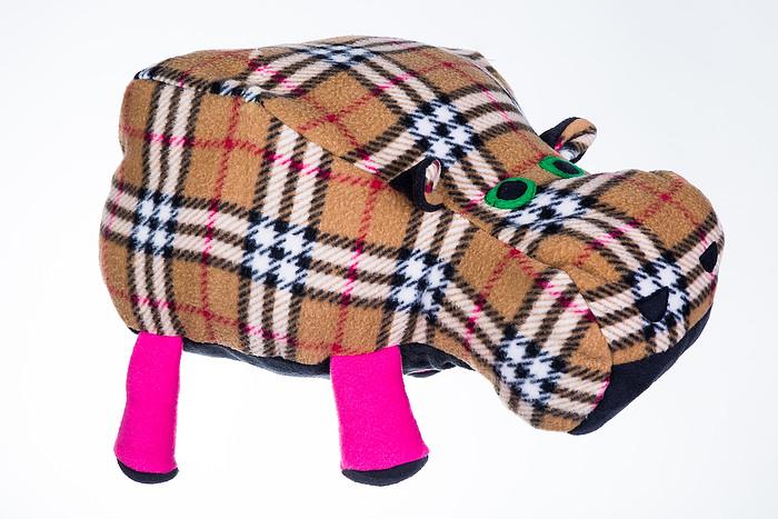 Декоративная подушка Бегемот