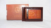 Зажим для купюр мужской Elegant(кож.зам.), COF-1008 Коричневый, размер 110*80*15