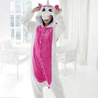 Кигуруми Единорог бело-розовый