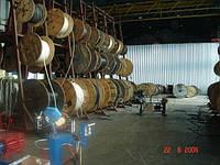 Стеллажные системы для хранения стального каната на барабанах (отмотки со стеллажа)