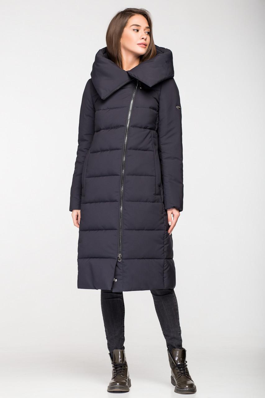 Модная зимняя женская куртка KATTALEYA KTL-267 темно-синяя (#C16)