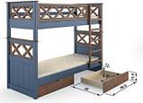 Ліжко Мальта двоярусна 80 (Мебигранд/Mebigrand) 900х2040(2140)х1740мм, фото 3