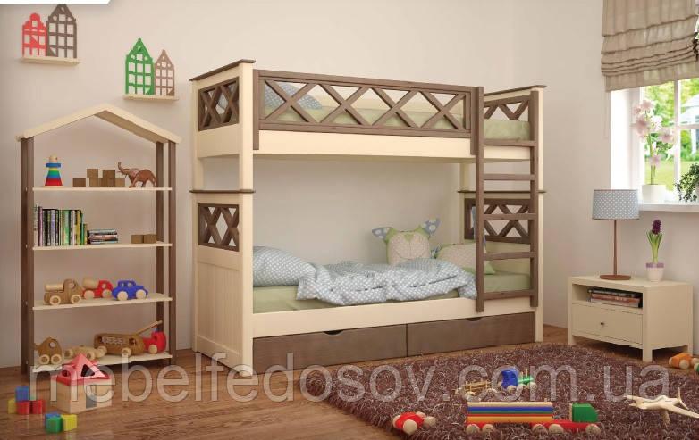 Ліжко Мальта двоярусна 80 (Мебигранд/Mebigrand) 900х2040(2140)х1740мм