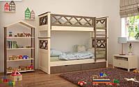 Кровать Мальта двухъярусная 80 (Мебигранд/Mebigrand) 900х2040(2140)х1740мм