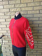 Кофта, свитер женский плотный на молнии   ELEGANCE, Турция, фото 2
