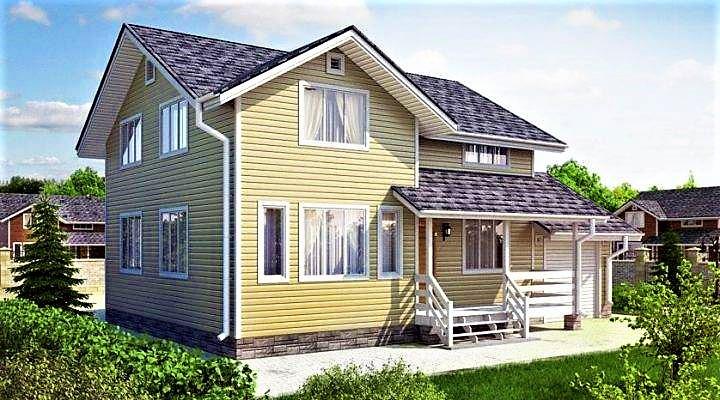Деревянный дом из профилированного клееного бруса 9х11 м