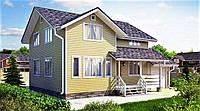 Деревянный дом из профилированного клееного бруса 9х11 м, фото 1