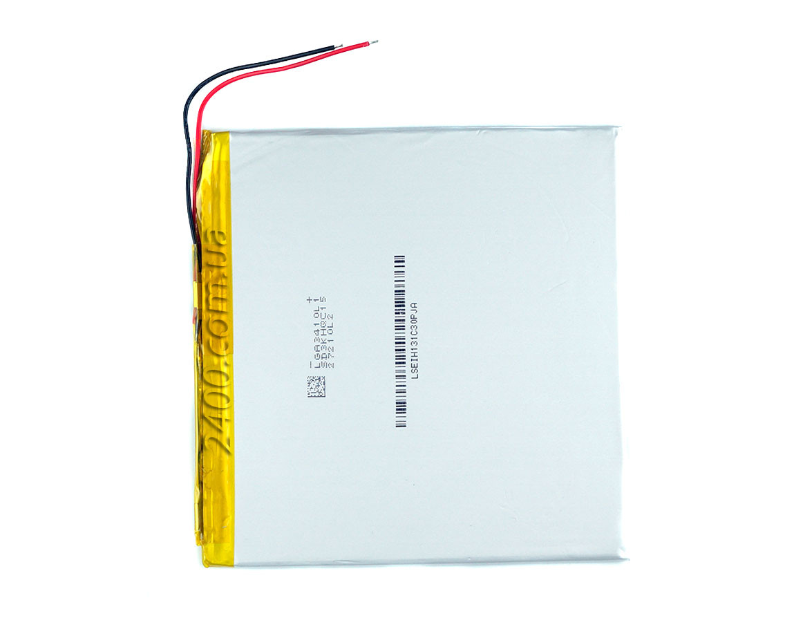 Аккумулятор (4300 мАч) для планшета плоский - размер 3*100*102 мм Bravis, Nomi, ImPAD, Prestigio 4300mAh 3,7в