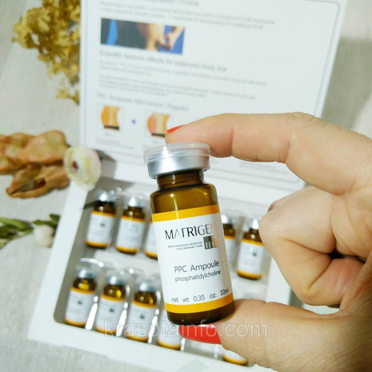 Концетрат для дермаштампа от целлюлита, жиросжигающий для похудения, MATRIGEN PPC Ampoule, Корея, 10 мл