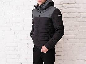 "Мужская демисезонная куртка Pobedov Jacket ""Rise"" Black - Gray Print, фото 3"