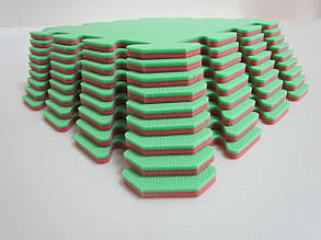 Lanor Детский мягкий пол-пазл  НХ 300*300*8мм красно-зеленый
