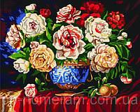 Набор для рисование картин по номерам Menglei G074 Разноцветные чайные розы цвет 40 х 50 см 950 цветы, фото 1
