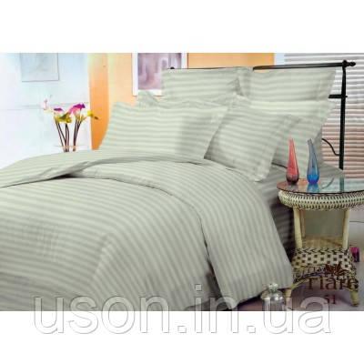 Комплект постельного белья страйп сатин Тиара евро размер 51