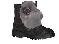 Зимние ботинки с ушками 7272, р 37-23 см, фото 1