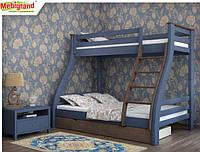 Кровать Аляска двухъярусная 140 (Мебигранд/Mebigrand) 1560х2040(2140)х1750мм