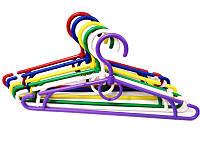 Детская цветная вешалка 33см для одежды с поворотным крючком