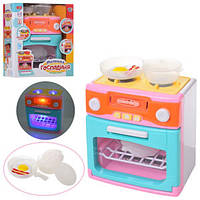 Бытовая техника XS-18067-1, плита, духовка, посуда, звук, свет, на бат-ке, в кор-ке, 22-25-12см