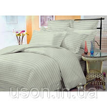 Комплект постельного белья страйп сатин Тиара двуспальный размер 51