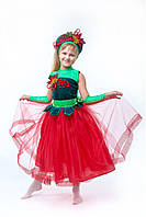 Детский карнавальный костюм Калинка-рябинка, рост 115-140
