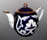 Узбекская национальная посуда Пахта-золотая. Чайник круглый 1,0 л.