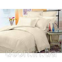 Комплект постельного белья страйп сатин Тиара двуспальный размер 52