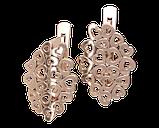 Серьги серебряные Сердца 41179, фото 2