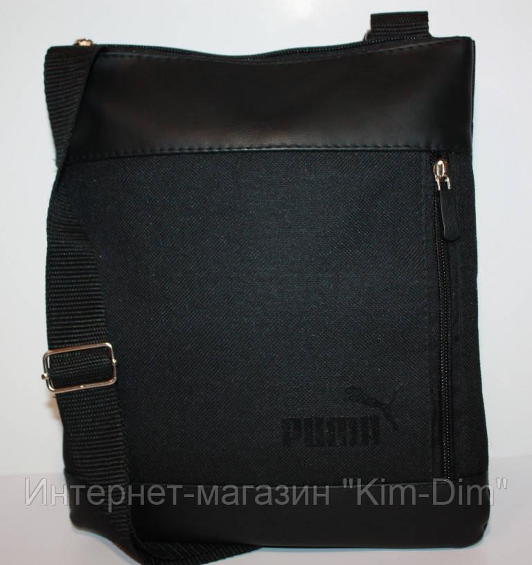 2224f875eff6 Сумка мессенджер в стиле Puma через плечо черная - Интернет-магазин