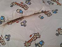Детское шерстяное одеяло 140х110 см. Бежевое