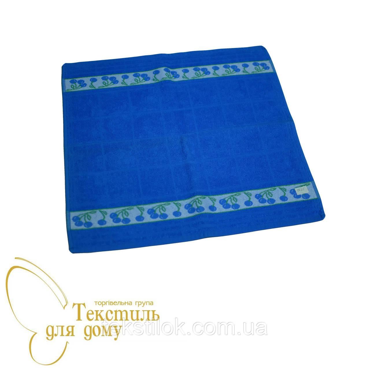 Кухонное полотенце махра 50*50 ассорти, синий
