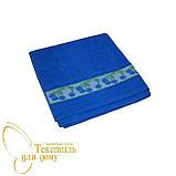 Кухонное полотенце махра 50*50 ассорти, синий, фото 2