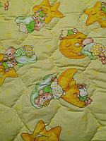 Детское шерстяное одеяло 140х110 см. Желтое, фото 1
