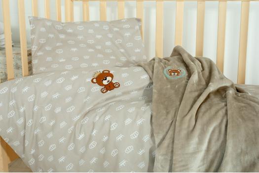 Постельное белье в кроватку Корона беж