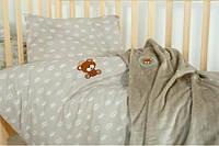 Постельное белье в кроватку Корона беж, фото 1