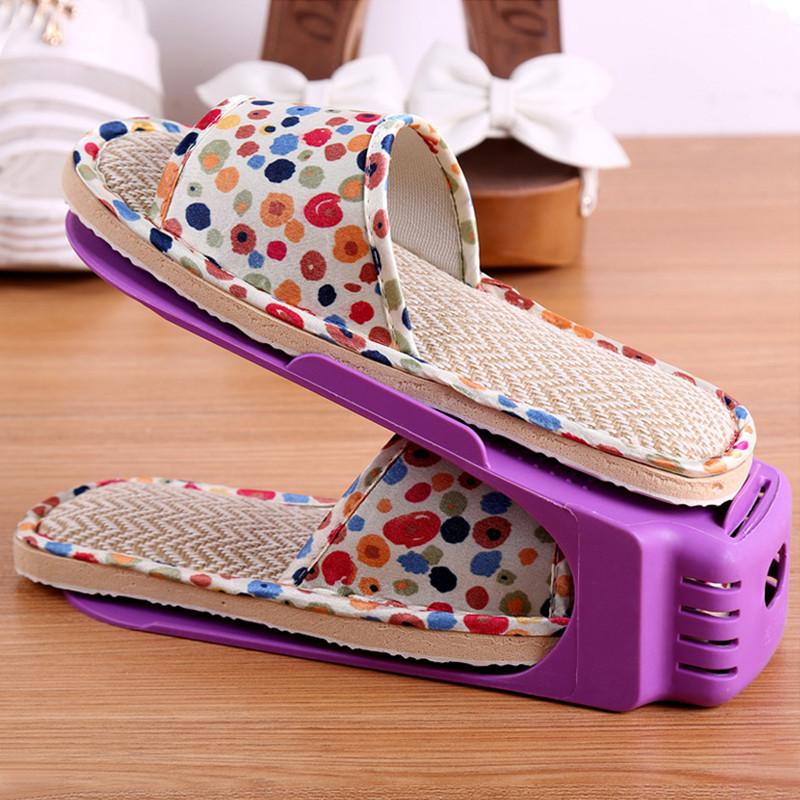 Двойная стойка для обуви фиолетовый