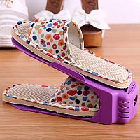 Двойная стойка для обуви фиолетовый, фото 1