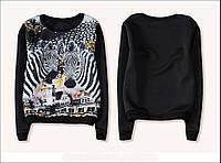 Теплая женская кофта, свитер женский ,кофта с рисунком,свитшот