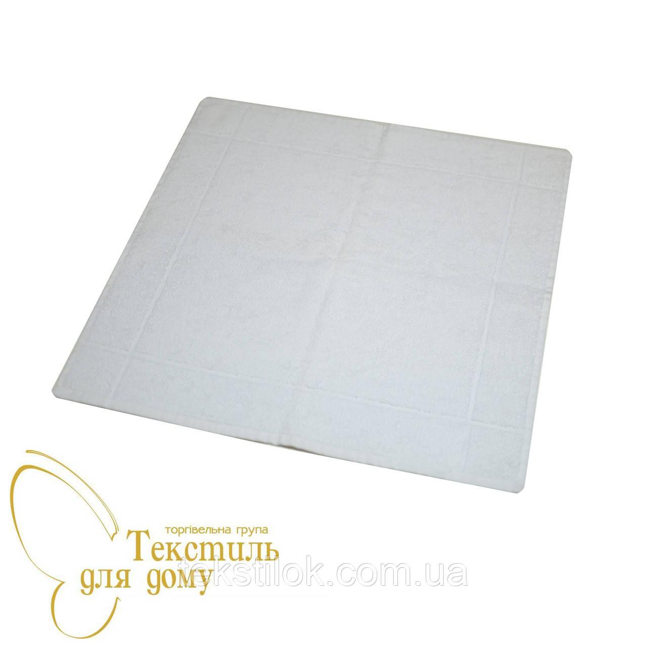 Кухонное полотенце махра 50*50 ассорти, белый
