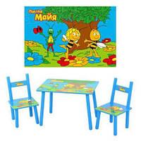 Детский столик и два стульчика М 1509 Пчелка Мая