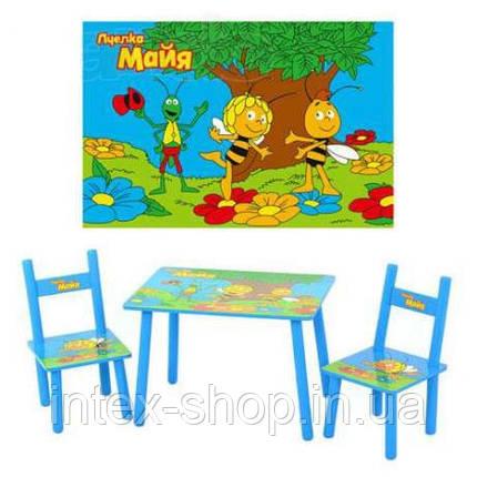 Детский столик и два стульчика М 1509 Пчелка Мая, фото 2