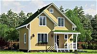 Дом из профилированного клееного бруса, деревянный 8х8 м, фото 1