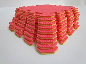 Lanor Детский мягкий пол-пазл 300*300*8мм НХ красно-желтые