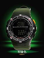 Мужские военные часы Мilitary Shock спорт Зеленые