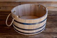 Шайка дубовая для бани и сауны 10 литров.