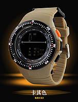 Мужские военные часы Мilitary Shock спорт Бежевые (Кофе)