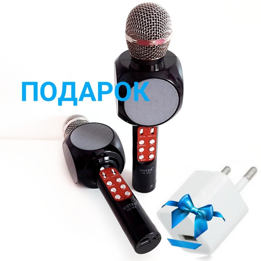 Портативный Безпроводной караоке микрофон Wster. WS 1816. С подсветкой