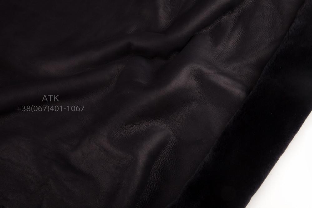 Дубленочный мех Интерфино черный напаллан