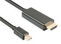 Кабель монітора-адаптер DisplayPort mini-HDMI M/M (HDMIекран)  2.0m Gutbay D=5.0mm Gold Черный(78.01.2831)