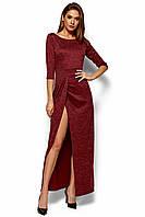 Элегантное бордовое платье, фото 1