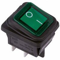 b805af89586f Выключатель клавишный 250V 16А 2Р ON-OFF с подсветкой, влагозащитный